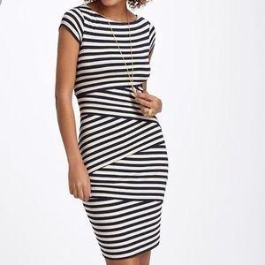 {Bailey44} Anthropologie Sheath Stripe Dress Siz L